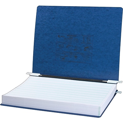 ACCO® PRESSTEX® Cover Data Binder with Storage Hooks, Dark Blue, 14-7/8 x 11