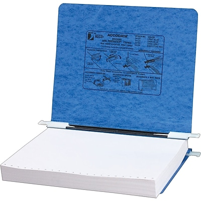 ACCO® PRESSTEX® Cover Data Binder with Storage Hooks, Light Blue, 12 x 8-1/2