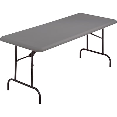 Iceberg® IndestrucTables TOO™ 1200 Series Folding Table, 60x30, Charcoal