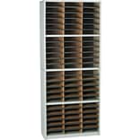 Safco® Value Sorter Literature Organizer, 72 Compartment, 32 1/4 x 13 1/2 x 75, Gray