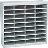 Safco® Steel E-Z Stor® Literature Organizers, 36 Slots, Letter Size, Grey, 36-1/2Hx37-1/2Wx12-3/4D
