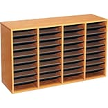 36-Shelf Oak Literature Organizer