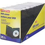 DVD Case, Black, 25/Pack