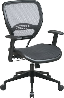 """Office Star Space(r) Air Grid(tm) Deluxe Mesh Manager's Chair, Seat: 20 1/2""""w X 19 1/2""""d, Back: 20 1/2""""w X 19""""h"""