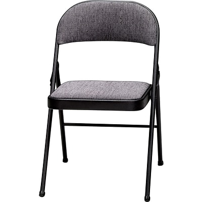 3200 Series Padded Folding Chairs, Black/Mist