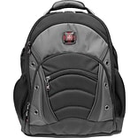 SwissGear® Synergy Laptop Backpack, Black/Grey, 15.6