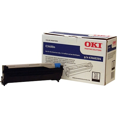 OKI® 43460204 Image Drum for C3400, Black
