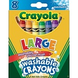 Crayola® Specialty Crayons, Large Size, Washable, 8/Box