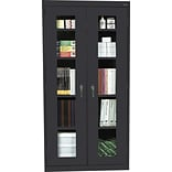 Black 72x36x18 Steel Clear View Storage Cabinet