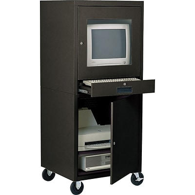 Edsal® Mobile Security Computer Cabinet, Black