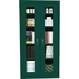 Green 72x36x18 Steel Clear View Storage Cabinet