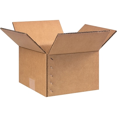9(L) x 9(W) x 6.5(H) Shipping Boxes, 48 ECT Double Wall, Brown, 15/Bundle (BS090906KEG14)