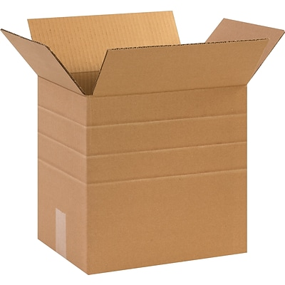 12 1/4(L) x 9 1/4(W) x 12(H) Multi Depth Shipping Boxes, 32 ECT, Brown, 25 /Bundle (MD12912)