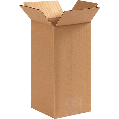 4(L) x 4(W) x 8(H) Shipping Boxes, 32 ECT, Brown, 25 /Bundle(448)
