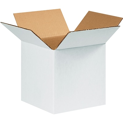 Coastwide Professional™ 8 x 8 x 8, 32 ECT, White, Shipping Boxes, 25/Bundle (CW57950)