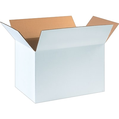 12(L) x 12(W) x 18(H) Shipping Boxes, White, 25/Bundle (181212W)