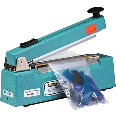 Impulse Hand Sealers w/ Cutters, 8 x 1/16, 1 Each
