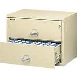 FireKing 37-1/2W Parchment 2-Drawer Insulated Lateral Files