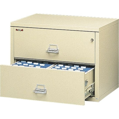 FireKing® Insulated Lateral Files, 2-Drawer, 37-1/2W, Parchment