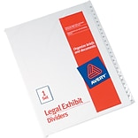 Avery Allstate® Preprinted Legal Side Tab Dividers, Tab Titles 76-100, White, 8 1/2 x 11