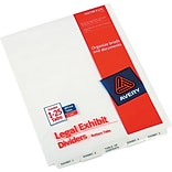 Avery® Premium Collated Legal Exhibit Divider Sets - Avery® Style, Letter Size, Exhibit 1-Exhibit 25