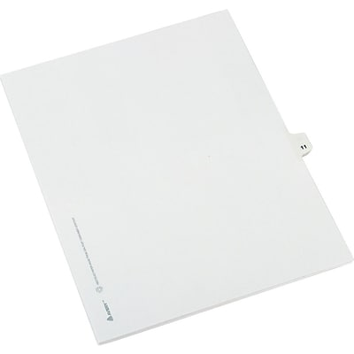Avery® Numerical Individual Legal Divider 11 Tab Paper Stock, White, 8 1/2 x 11, 25/set (11921)