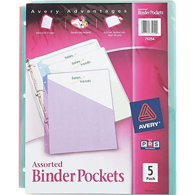 Avery Assorted Binder Pockets