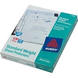 Avery Standard Top-Load Sheet Protectors, Poly, Semi-Clear, 11 x 8 1/2, 100/Box (75536)