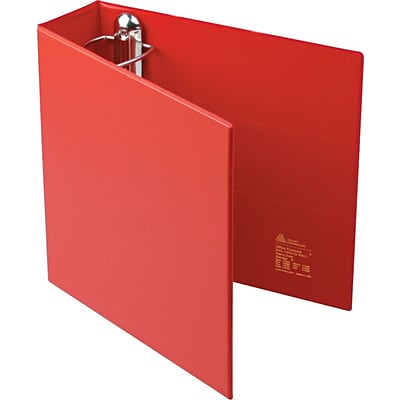 Avery® Heavy-Duty One Touch EZD™ 3 3-Ring Binder, Non-View, Red