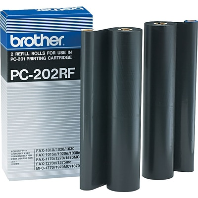 Brother Genuine PC202RF Original Thermal Fax Refill Rolls Multi-pack (2 cart per pack)