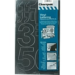Chartpak Press-On Vinyl 3 Numbers, Black, 10/Pack (CHA01170)