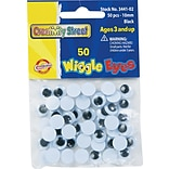 Chenille Kraft Company Round Wiggle Eyes, Black, 10 mm, 50/Pk