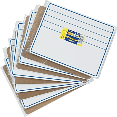 Chenille Kraft® Creativity Street® Dry Erase Student Boards, Blue/White, 9 X 12 (9882-10)