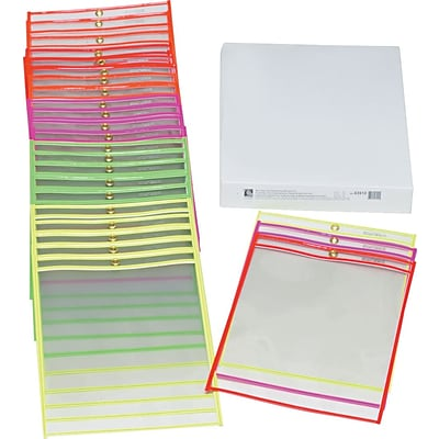 Shop Ticket Holder, Clear Front and Back for 9 x 12 Insert, 25 per Box