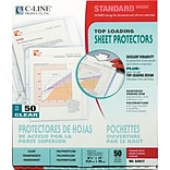 C-Line Top Load Sheet Protector, Standard Weight, Clear, 11 x 8 1/2, 50/Bx (62037)