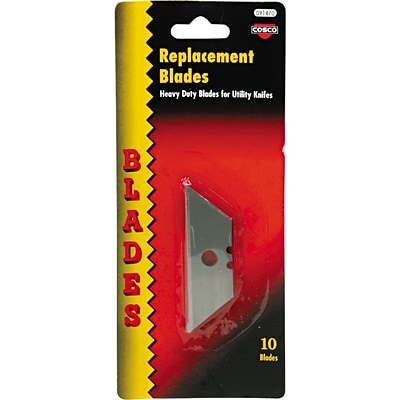 Cosco® Heavy-Duty Utility Knife Replacement Blade, 10/Pack
