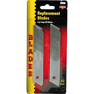 Cosco® Snap-off Utility Knife Replacement Blade For 6NZZ3, 10/Pack