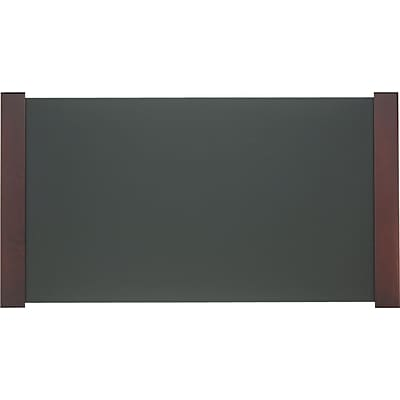 Carver Desk Pad with Wood End Panels, Mahogany Finish, 21 x 38 (2043)