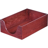 Carver Hardwood Desk Tray, Legal, Double Deep, Mahogany Finish