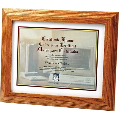 Dax Document/Certificate Frame, 8 1/2 x 11, Stepped Oak