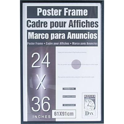 DAX® Flat Face Poster Frame, Wood, 24 x 36, Black, Each (286036X ...