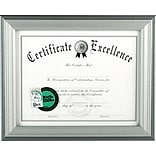 DAX Silver Finish Document Frame, Desktop, 8-1/2 x 11