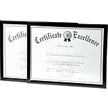 DAX® Value U-Channel Document Frame, Plastic, 8 1/2 x 11, Black, 1/Set (N17000NTP)