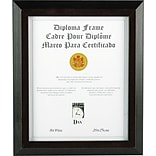 Dax Award/Certificate Frame, 8H x 10L, Solid Wood, Black with Walnut Trim AZRDAXN19880BT