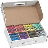 Prang Masterpack Regular Crayons, 800/Box