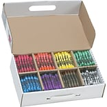 Prang® (Dixon Ticonderoga®) Crayons, Large, Master Pack, 8 Colors, 400/Box