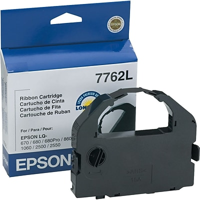 Epson Black Dot-Matrix Printer Ribbon (7762L)