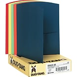 Duo-Tang Oxford Contour™ Two Pocket Portfolios, Assorted Colors, 8 1/2 x 11, 25/Bx