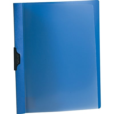 Oxford Ready Clip™ No-Punch Report Covers, Dark Blue, 8 1/2 x 11