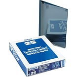 Oxford® Clear Front Report Covers with Linen Finish, Navy, 8 1/2 x 11, 25/Bx